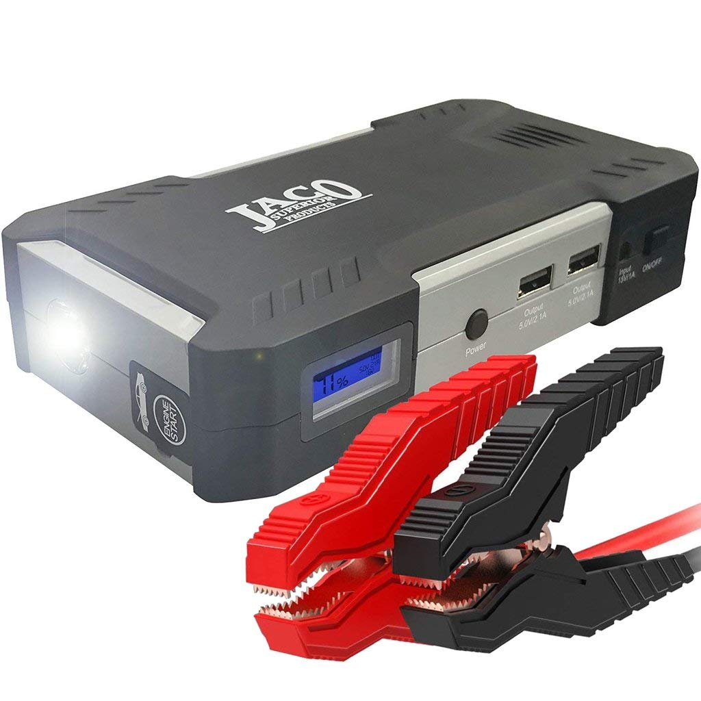 JACO BoostPro Car Battery Jump Starter – Powerful Portable Power Bank – 600A/16500mAh
