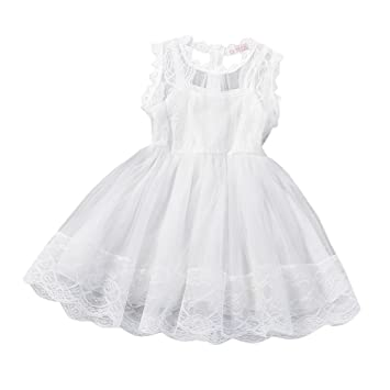 feiXIANG Vestido de niña Brote Vestido de Gasa de Seda Vestido de ...