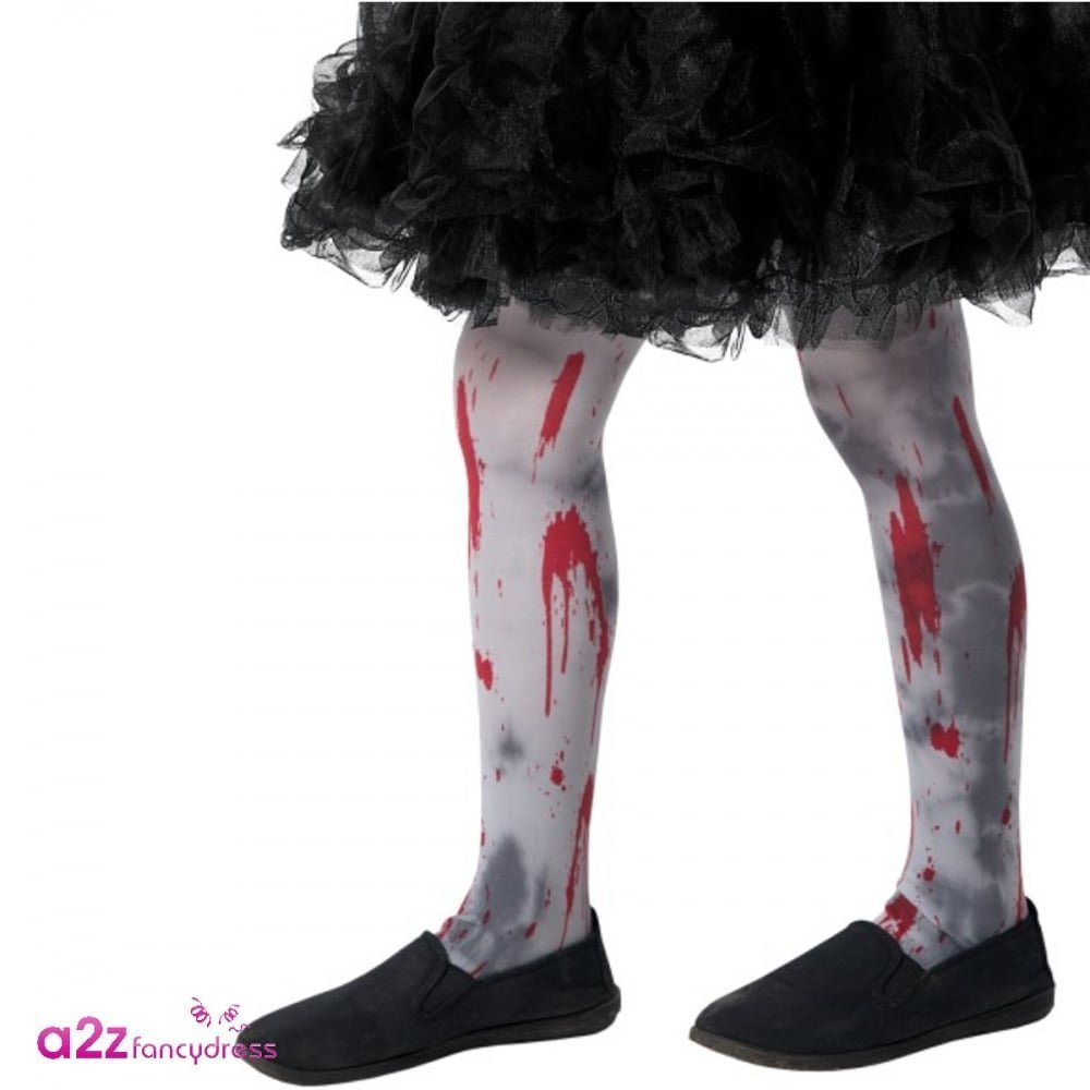 Zombie Dirt Tights Child, Grey, Small
