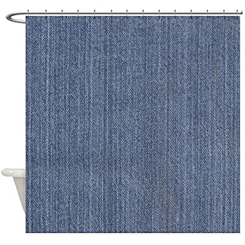 Amazon.com: CafePress - Blue Denim Jean - Decorative Fabric Shower ...