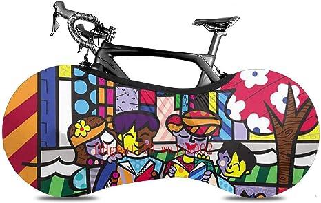 HUA Cubierta de Rueda de Bicicleta, Familia-Romero-Britto Día del Padre Cubierta de neumático de Bicicleta Antipolvo portátil Paquete de neumático Lavable Duradero Interior: Amazon.es: Deportes y aire libre