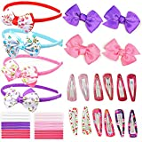 HAIR ACCESSORIES FOR GIRLS, TODDLERS & BABY GIRLS: 40 Pcs of Headbands, Hair Clips, Hair Bands, Bows, Ribbons, Clips, Barrettes, Alice Bands. Best Gifts & Present Idea For Girl & Toddlers Of All Ages.