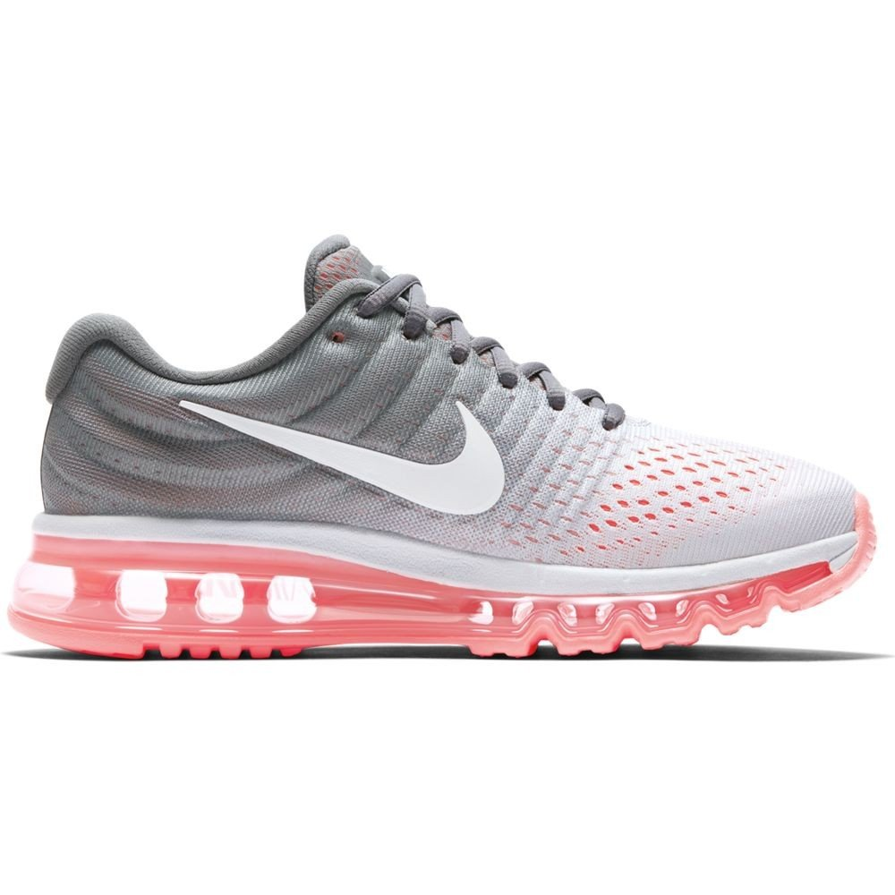 outlet store b53a8 1eb4e Nike AIR Max 2017 Pure Platinum White-Cool Grey-HOT Lava 2017 TG. 38, 5 cm  24, 5 Pure Platinum White-Cool Grey-HOT Lava  Amazon.co.uk  Shoes   Bags