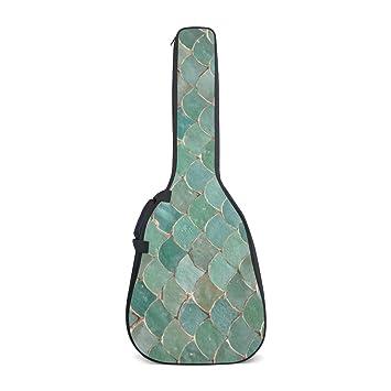 deyya Colorful sirena escalas patrón impresión guitarra eléctrica bolsas casos con ajustable correas de mochila: Amazon.es: Instrumentos musicales