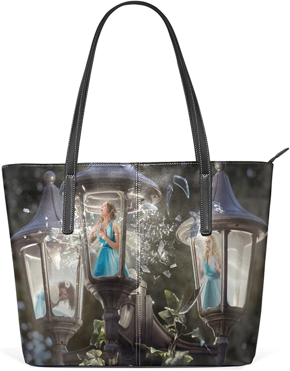 Ethel Ernest Womens Purse Broken Lantern Singing Fairies PU Leather Shoulder Tote Bag