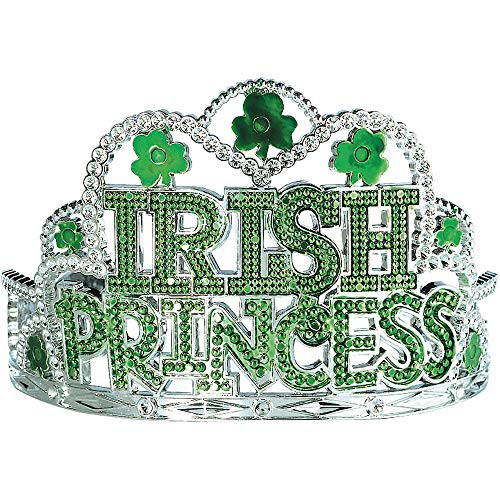 Amscan St. Patrick's Day Irish Princess Green Plastic Tiara   Party Accessory