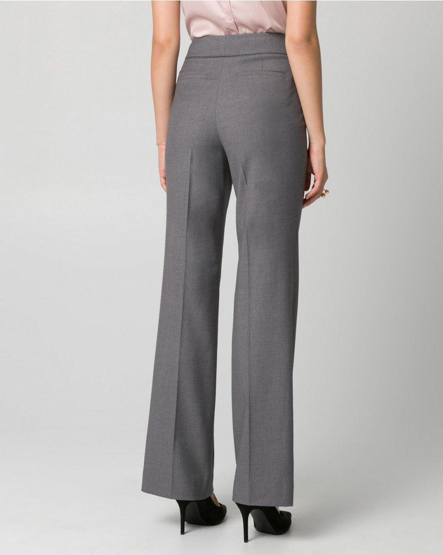 LE CHÂTEAU Women's Tailored Gabardine Flare Leg Pant,12,Medium Grey by LE CHÂTEAU (Image #2)