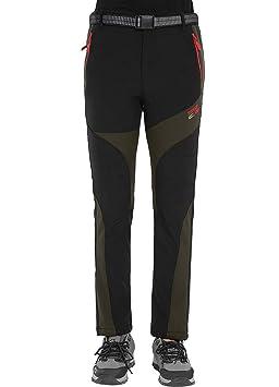 Pantalon d extérieur Softshell Femme Imperméable Coupe-Vent polaire  doublure hiver Pantalon de randonnée 80977ecfcafe