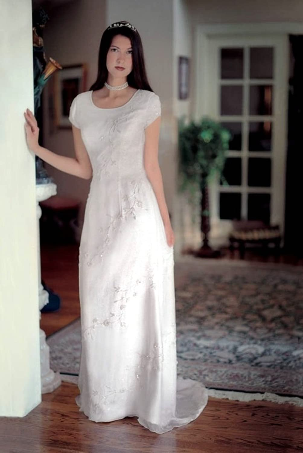 Eternity By Millennial Sun #7812 Ivory Size 12 Silk Bridal Gown LDS ...