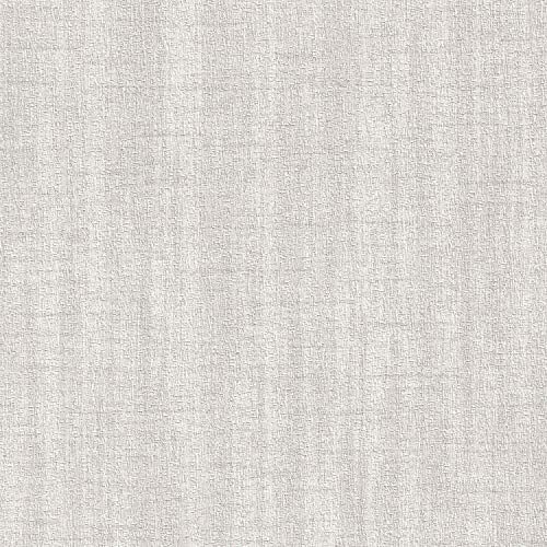 Shimmering Seashell Gray Vinyl Wallpaper for Walls – Double Roll – by Romosa Wallcoverings