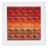 3dRose Uta Naumann Faux Glitter Pattern - Luxury Shiny Chic Animal Elephant Africa Safari Pattern on Faux Metal - 14x14 inch quilt square (qs_269041_5)
