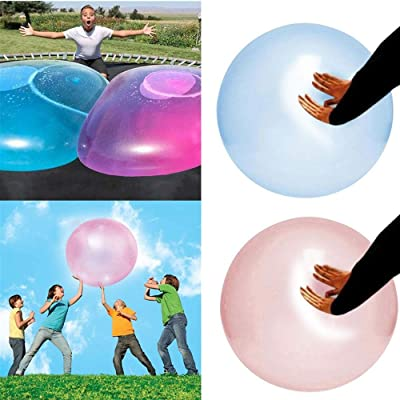 """QUICATCH Amazing Bubble Ball Outdoor Fun Inflatable Bubble Balls Toy, Transparent Bounce Balloon Water-Filled Interactive Rubber Balls, Bubble Balloon Inflatable Toy for Children (XL - 80cm/31.5""""): Sports & Outdoors"""