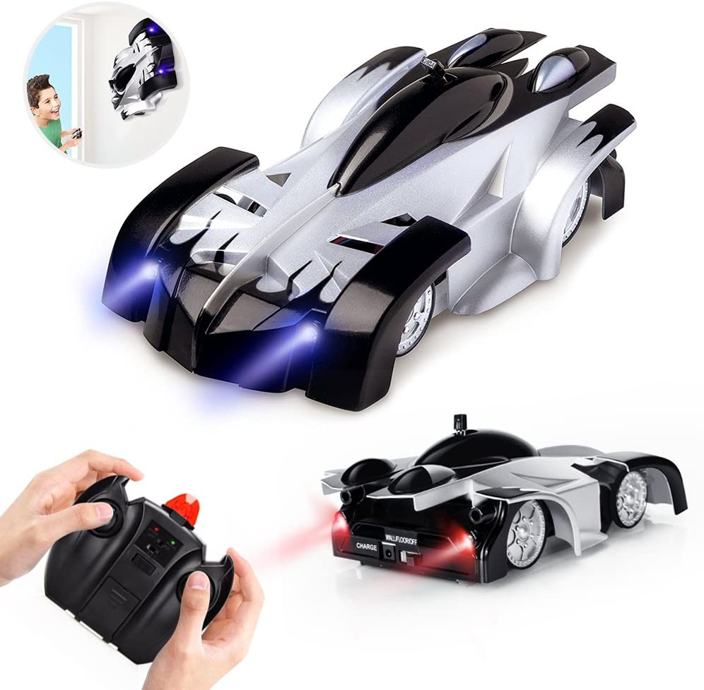 Remote Control Car Wall Climbing Gravity Defying RC Cars Dual Mode 360 Stunt Remote Control Rechargeable High Speed Led RC Race Car Toys Vehicles for Kids Girls Boys Birthday Xmas Gift Red