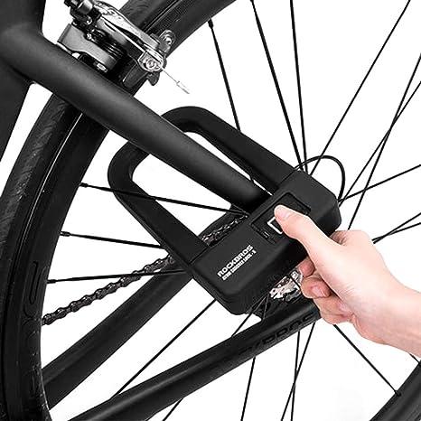 ACCDUER Cadena de Bloqueo para Bicicleta, Resistente combinación ...