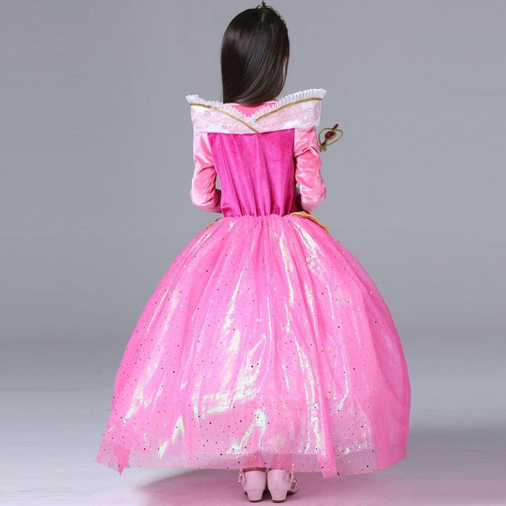 Katara 1742 - Disfraz de Princesa Aurora La Bella Durmiente Vestido Elegante - Niñas de 4-5 Años, Color Rosa: Amazon.es: Juguetes y juegos