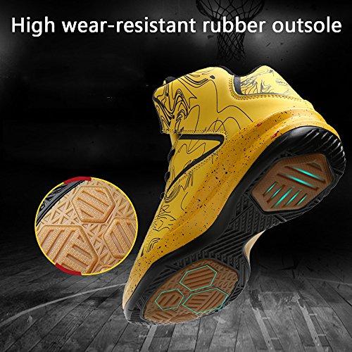 top De Homme Lace Up Légères Antidérapantes Noir Sneakers Basket Gymnase Lanseyaoji ball High Athlétique Sport Chaussures Mode Entraînement Course Baskets ROdqwE7