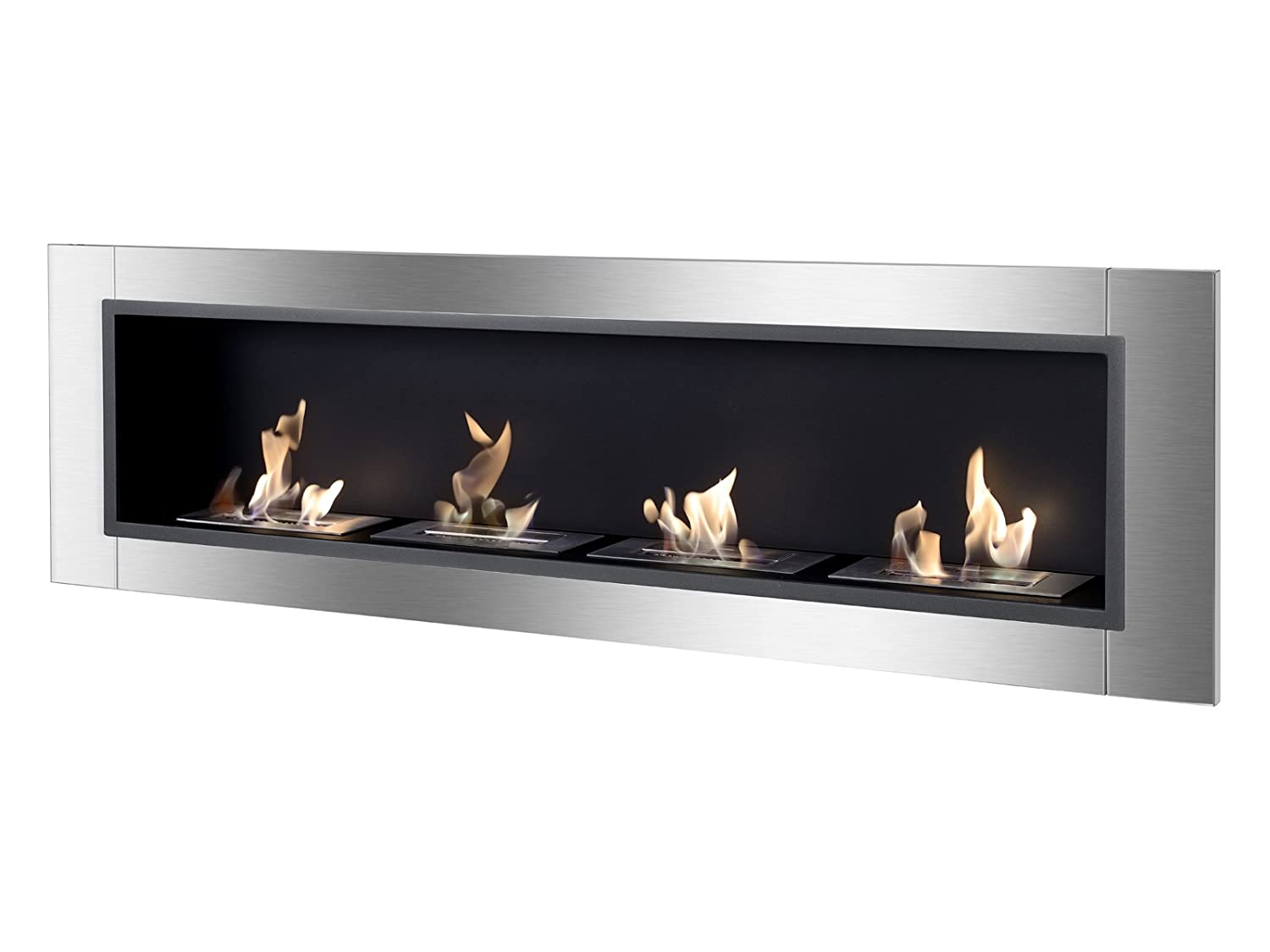 p inch cynergy bio built ethanol fireplace recessed ventless mounted in wall