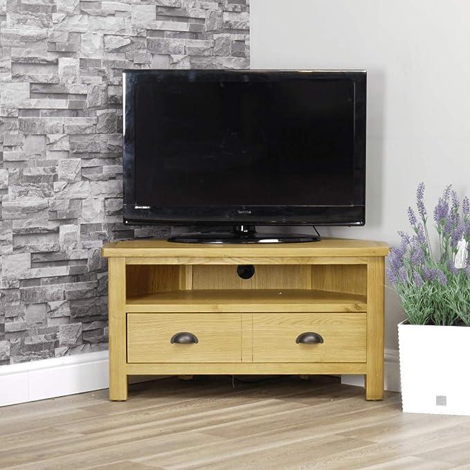 Mueble esquinero para TV Milan Oak | Mueble para TV | Tono Madera Claro: Amazon.es: Hogar