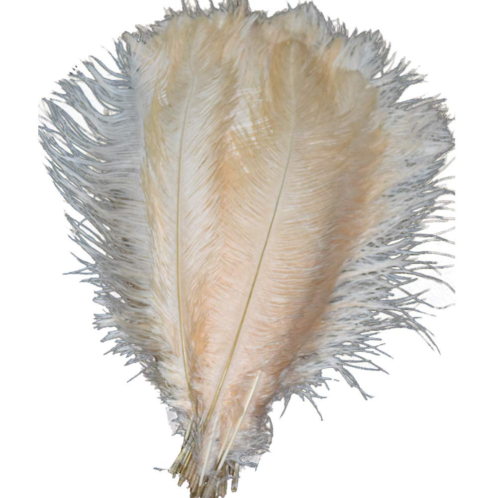 40-45cm Lanpeed 10pcs Ostrich Feathers 16-18inch Yellow for Home Wedding Party Decoration