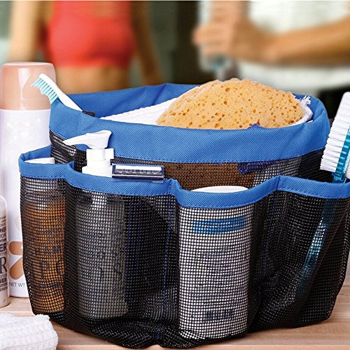 Portable Collapsible Shower Tote with 9 Pocket Storage, Mesh ...