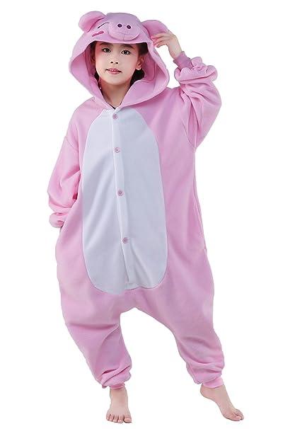 Amazon.com  CANASOUR Unisex Halloween Pink Pig Kids Party Children Cosplay  Pyjamas  Clothing 0e5bb9c3f67b