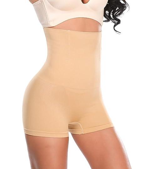 d87422c8d9e96 SEXYWG Waist Trainer Girdle Hi-Waist Shapewear Boyshort Firm Control Panty  Brief  Amazon.ca  Clothing   Accessories