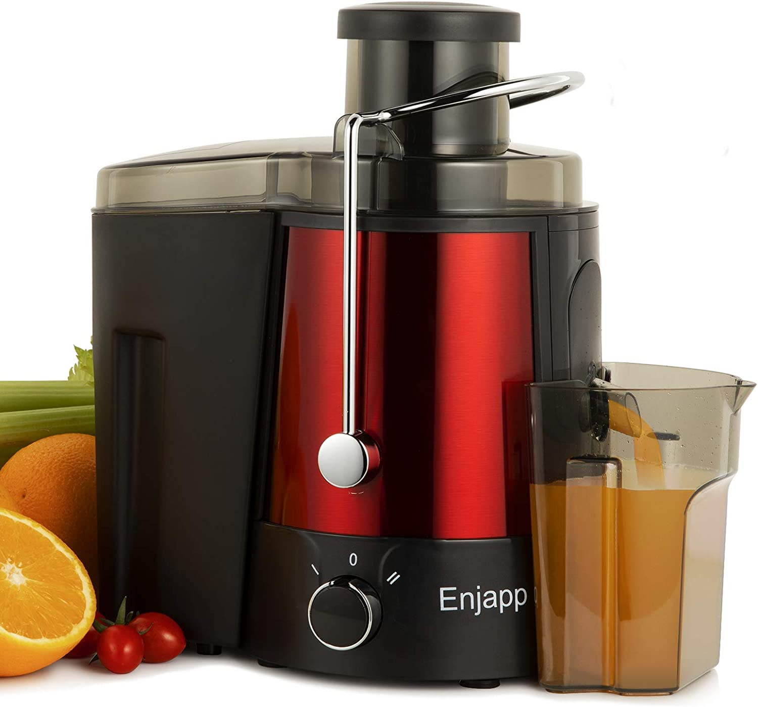 "Juice Extractor, Extractor de Jugos y Vegetales, Centrifugal Juicer Machines Ultra Fast Extract Various Fruit and Vegetable Juicer with 3"" Large Feed Chute BPA Free Easy Clean for Orange Celery Carrot"