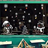 Creazy Christmas Snowman Removable Home Vinyl Window Wall Stickers Decal Decor
