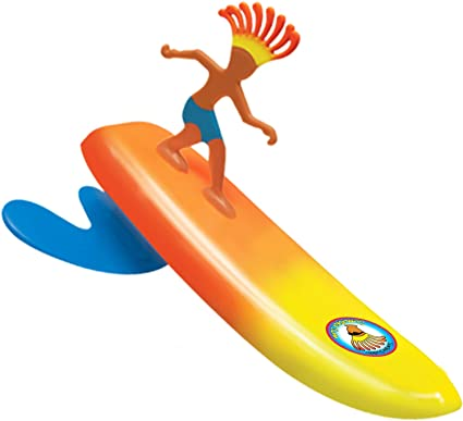 Surfer Dudes 2020 Edition Wave Powered Mini-Surfer and Surfboard Toy