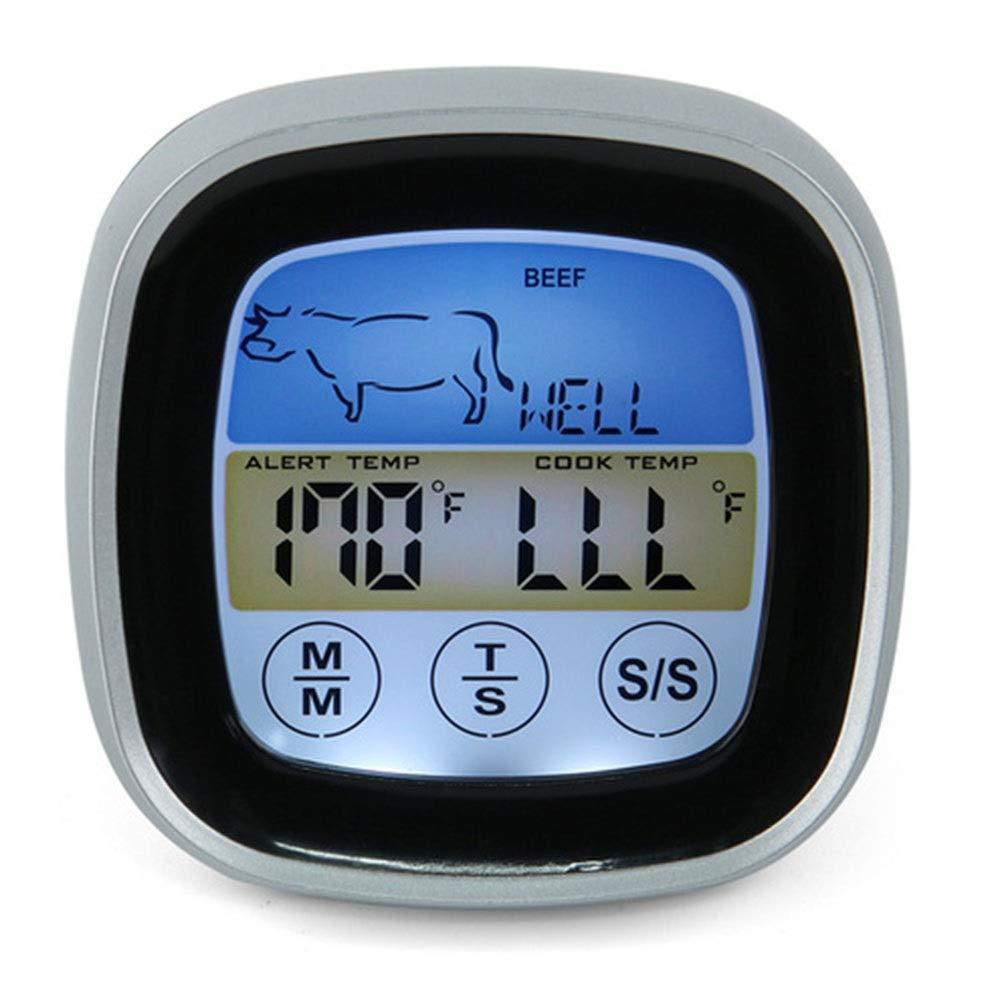 Termometri da Esterno Termometro per Alimenti Digitale Touchscreen Termometro per Carne istantaneo con Allarme per Timer e sonda Lunga per Cucina per allaperto casa Ufficio