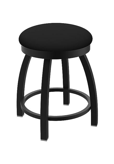 Astonishing Holland Bar Stool Co Misha Swivel Vanity Stool 18 Seat Height Black Vinyl Pdpeps Interior Chair Design Pdpepsorg