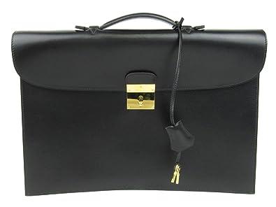5c79603082cd  エルメス  HERMES キリウス2 ビジネスバッグ ブラック(金具:ゴールド) ボックスカーフ