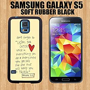 Cute painting Bible Verse Proverbs 3-6 Custom made Case/Cover/skin FOR Samsung Galaxy S5-Black - PC Case