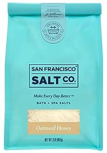 Oatmeal Honey Bath Salts - 2 lb. Luxury Gift Bag by San Francisco Salt Company
