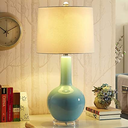 Amazoncom Junmyeon Ceramics Table Lamp Mid Century Modern Desk