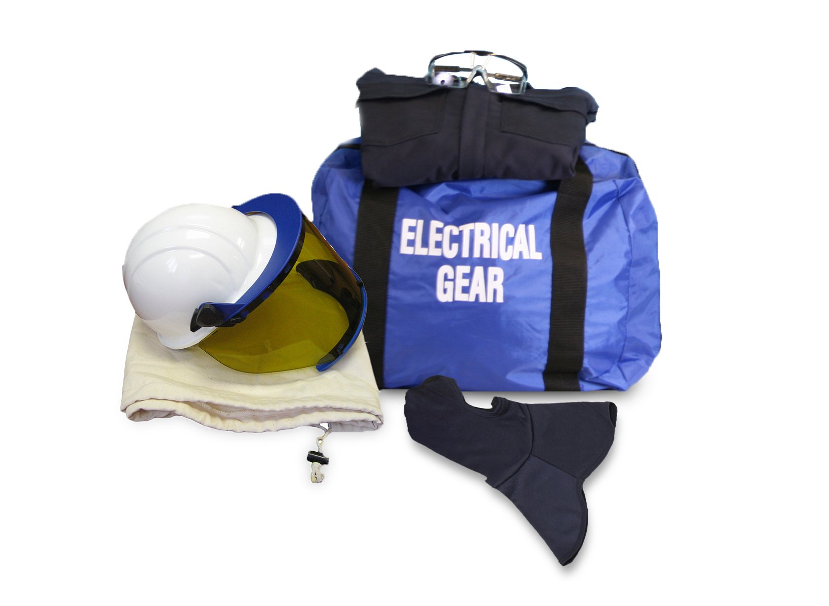 National Safety Apparel KIT2CV11NGB3X ArcGuard HRC 2 Arc Flash Kit with 12 cal/sq cm Ultra Soft Coverall and Balaclava Knit Hood, 3X-Large, Navy