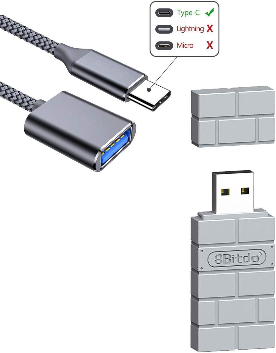 LEGADO 8Bitdo Adaptador inalámbrico gris USB para PS Classic Edition, Nintendo Switch, Mac, Windows, Raspberry Pi, Switch (Android) con un cable OTG: Amazon.es: Electrónica