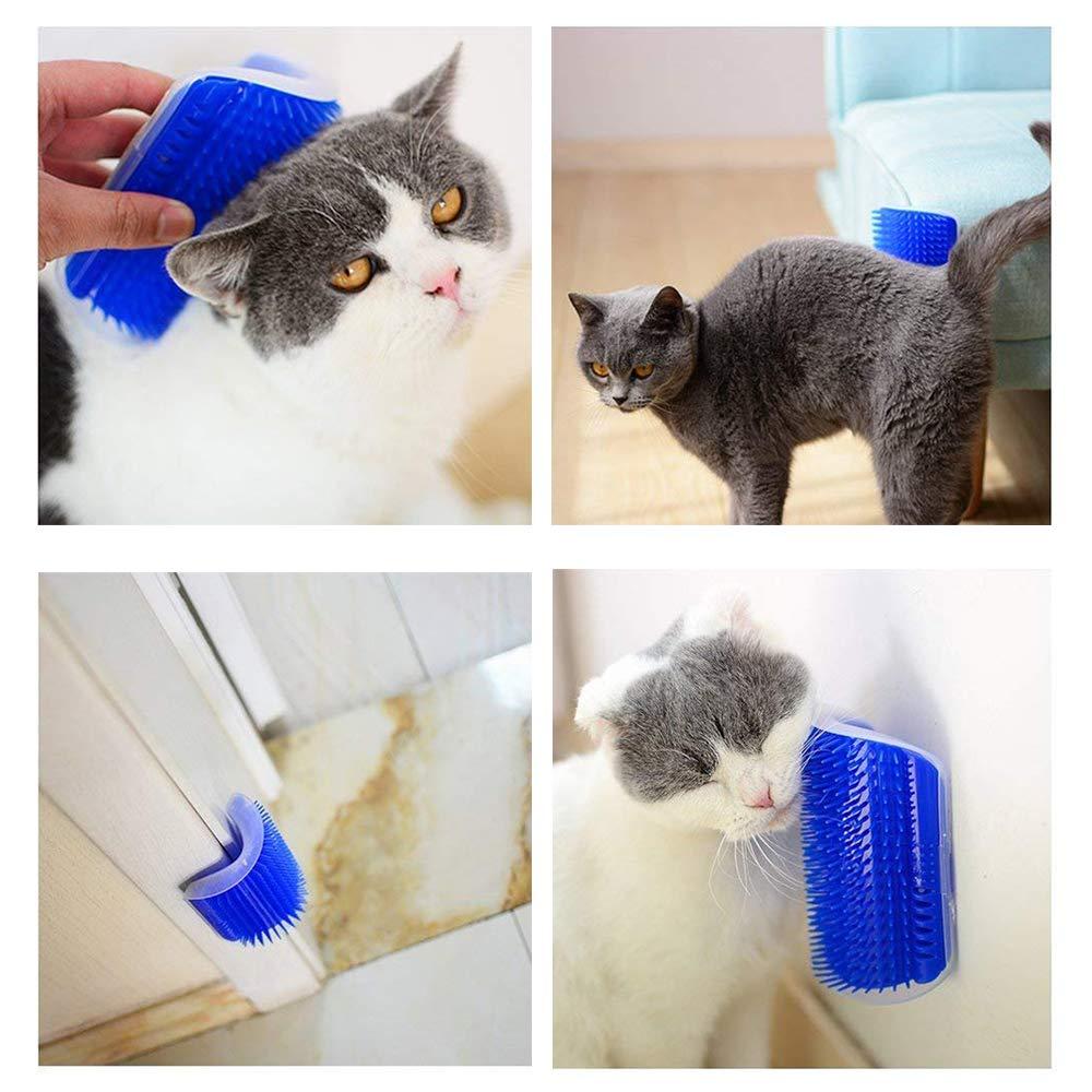 VIPpet Cat Corner Massage Self Groomer - Wall Corner Massage Comb Tool Grooming Brush for Long & Short Fur Pet Cats/Dogs/Horses