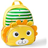 Toddler Backpack, Waterproof Preschool Backpack, 3D Cute Cartoon Neoprene Animal Schoolbag for Kids, Lunch Box Carry Bag for 1-6 Years Boys Girls, Lion