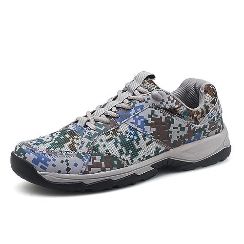 Hombre Zapatillas De Deporte Low-Top Impermeables Caminar Al Aire Libre Camuflaje: Amazon.es: Zapatos y complementos