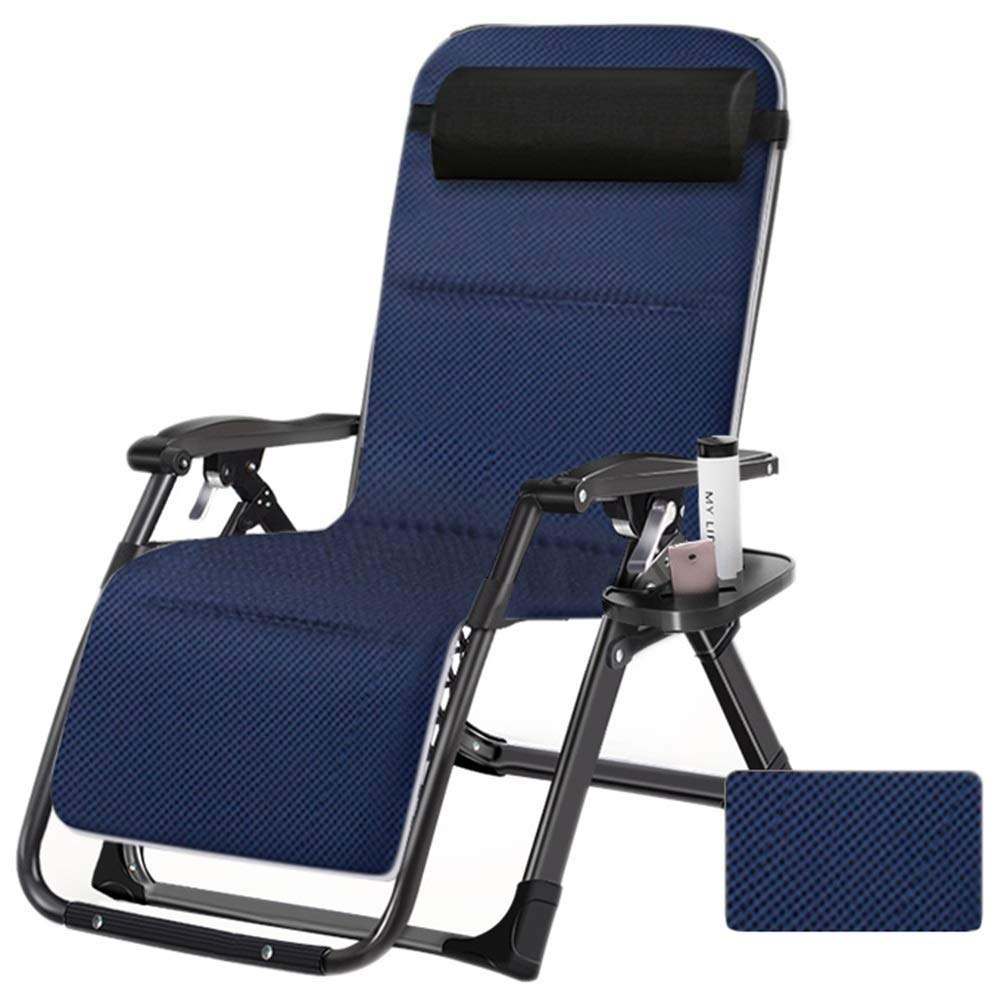 Extra Wide Adjustable Chair for Patio Garden Beach Pool Support 200kg Multifunction Deck Chair LOUNGER Oversize Outdoor Reclining Zero Gravity Chair with Cup Holder