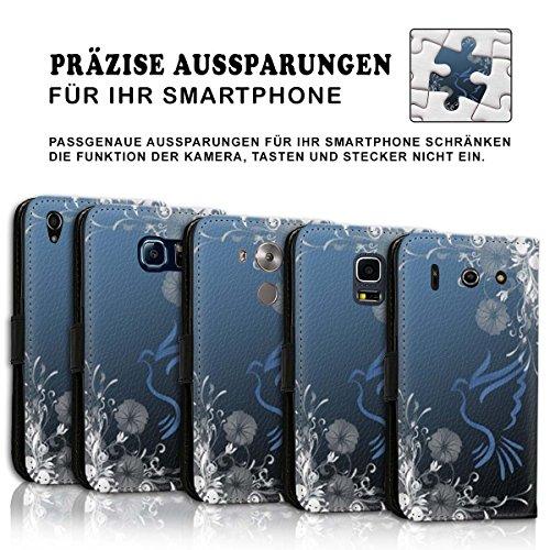 Wallet Book Style Flip Handy Tasche Case Schutz Hülle Schale Motiv Etui für Apple iPhone 5 / 5S - Design Flip MV112