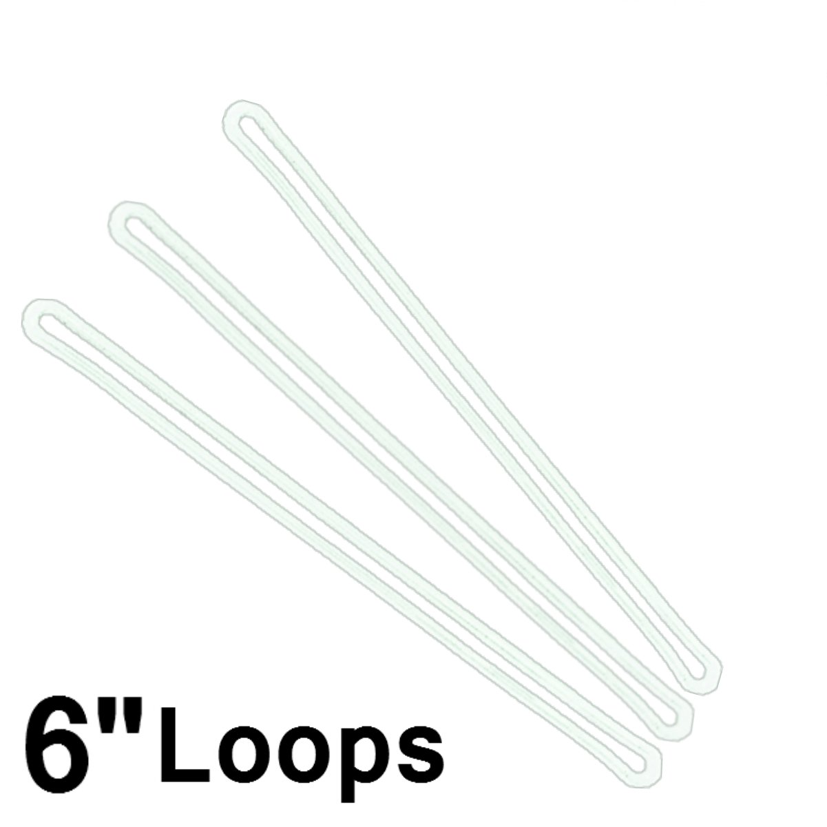 6 Inch Premium Clear Plastic Luggage Loop Straps / Worm Loops for Luggage Tags, by Specialist ID (500 Pack + Bonus)
