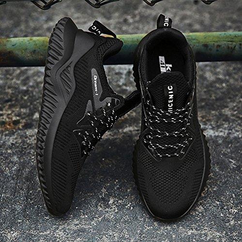 Da Ginnastica Jindeng Nero Respirabile Basse Mesh Sportive Corsa Uomo a Sneakers Fitness All'aperto Scarpe Running qB5I5H