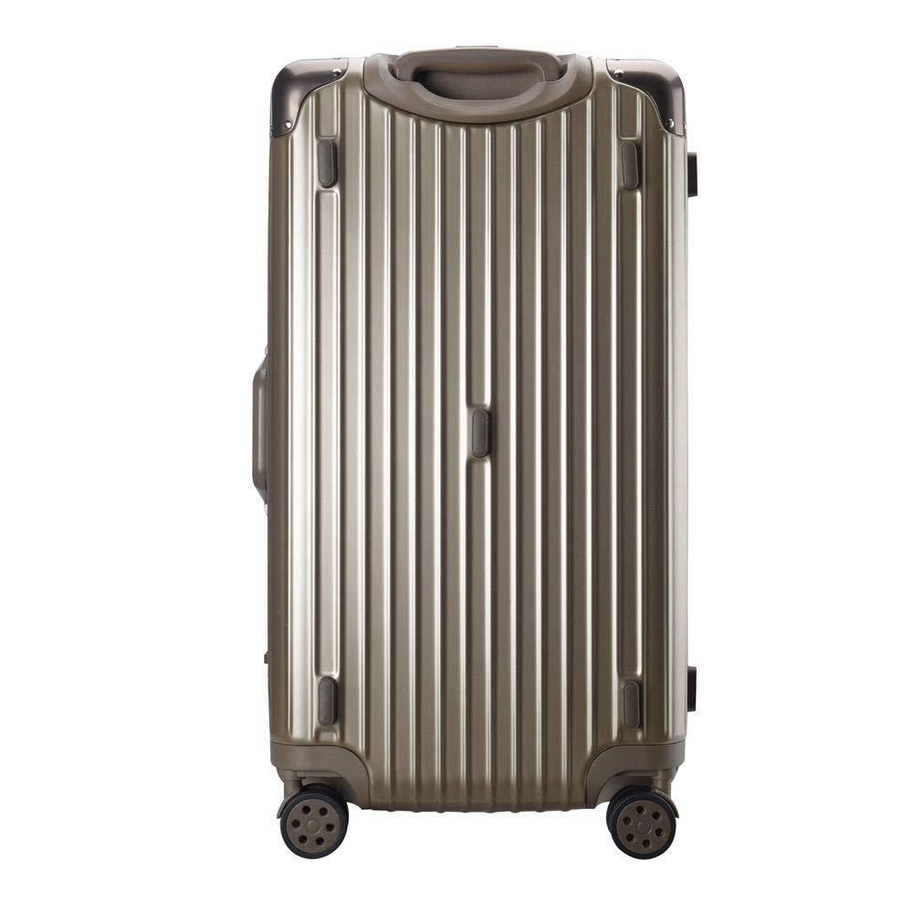 トロリーケース肥厚拡大大容量つや消しアルミフレームスーツケース搭乗ユニバーサルホイールスーツケース (Color : Titanium gold, Size : 24 inches)   B07R4QG149