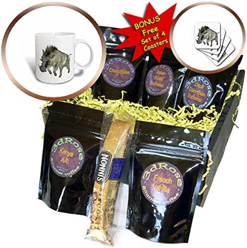 Boehm Graphics Animal - A Wild Warthog Running to the Right - Coffee Gift Baskets - Coffee Gift Basket (cgb_244289_1)