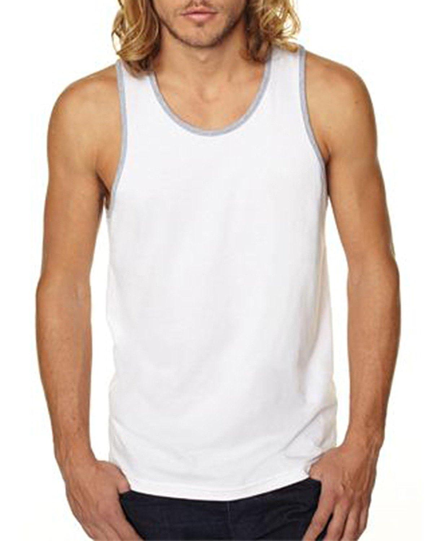 White Next Level Mens Cotton Tank S - Style # 3633 - Original Label