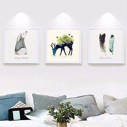 Wuxk De Nordic Foto Muur Schilderij Woonkamer Ingericht In Een Moderne En Minimalistische Muur Kunst Banken Muur Restaurant Slaapkamer Warme Muur Schilderijen Amazon Nl