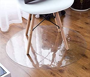 Chihen Clear Chair Mat,Clear Multi-Purpose Floor Protector Transparent Thick Sturdy Highly Premium Quality Floor Mats for Low Medium Pile Carpets Office (Color : 2.0mm, Size : 100x100cm(39x39inch))