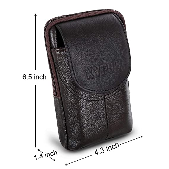 a9e064cca80 Amazon.com: Leather Men Belt Pouch, Cell Phone Holster Wallet Pocket ...